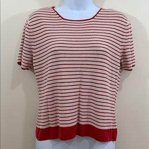 Bowden Short Sleeve Striped Sweater  Size M